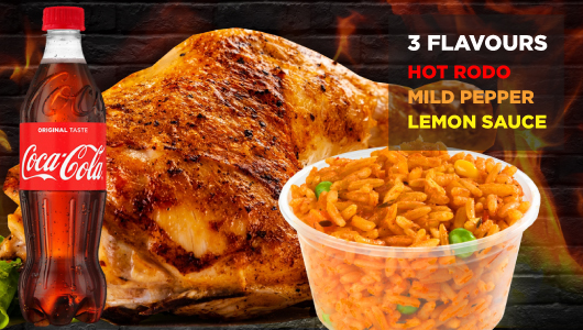 Chicken Republic - Quarter Flame Grilled Meal