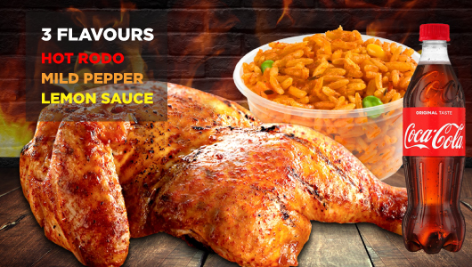 Chicken Republic - Quarter Flame Grilled Meals